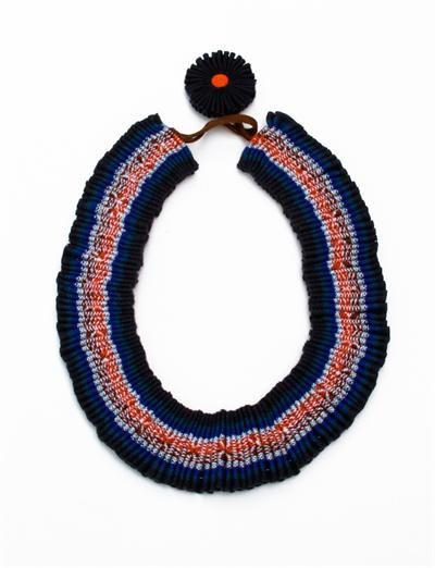 Marina Callis Pumba Necklace- Aguayo Blue