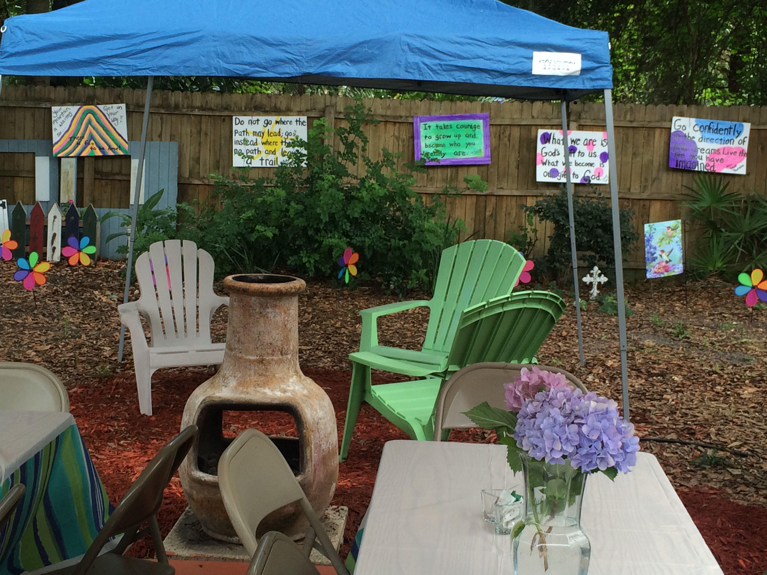 Graduation Party Decorations & Set Up | Outdoor furniture ...