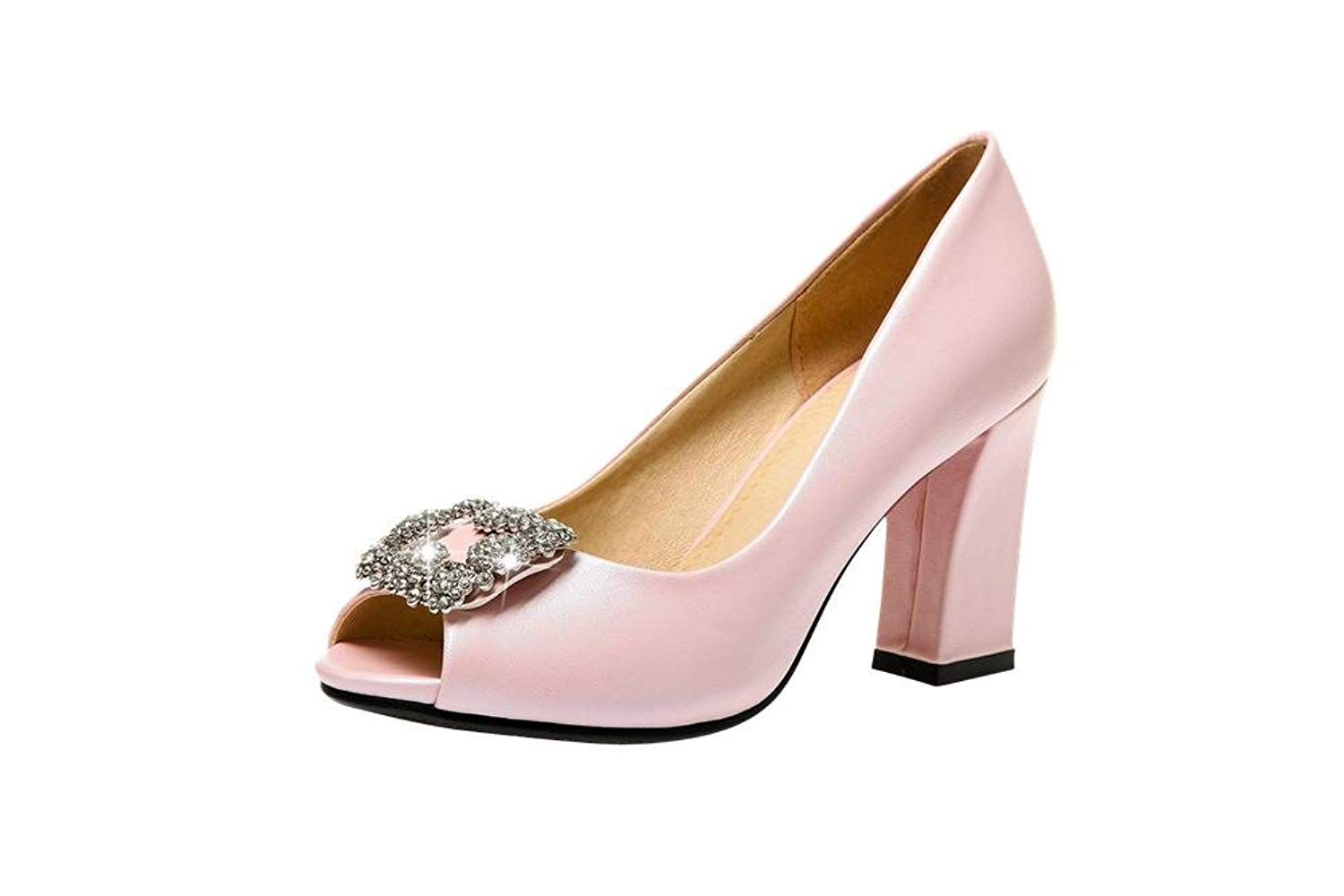 Stylish Sequin Open Toe Chunky Heeled Sandals Online