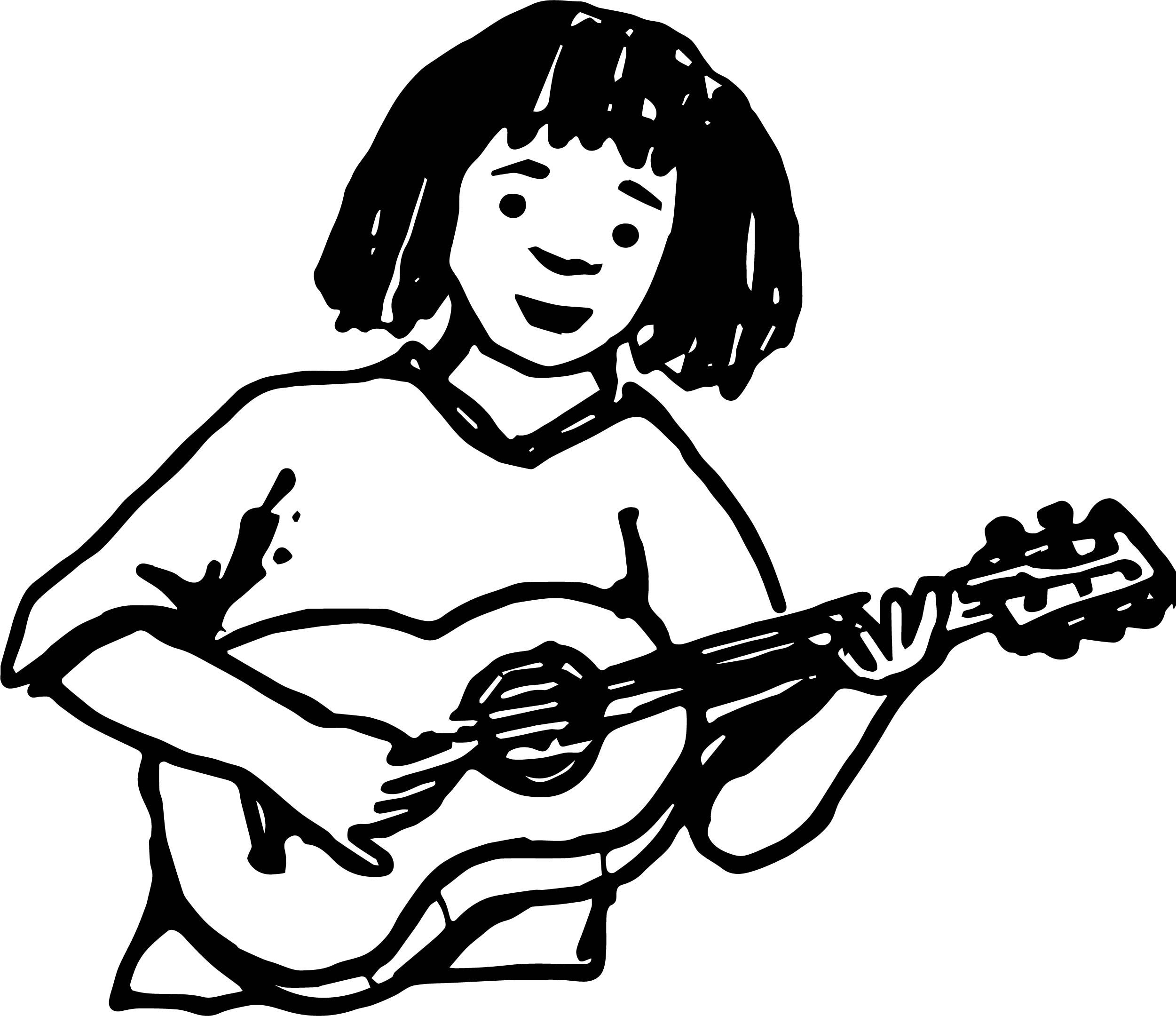 Explore These Ideas And More Nice Hobby Guitar Player Color Playing The Coloring Page