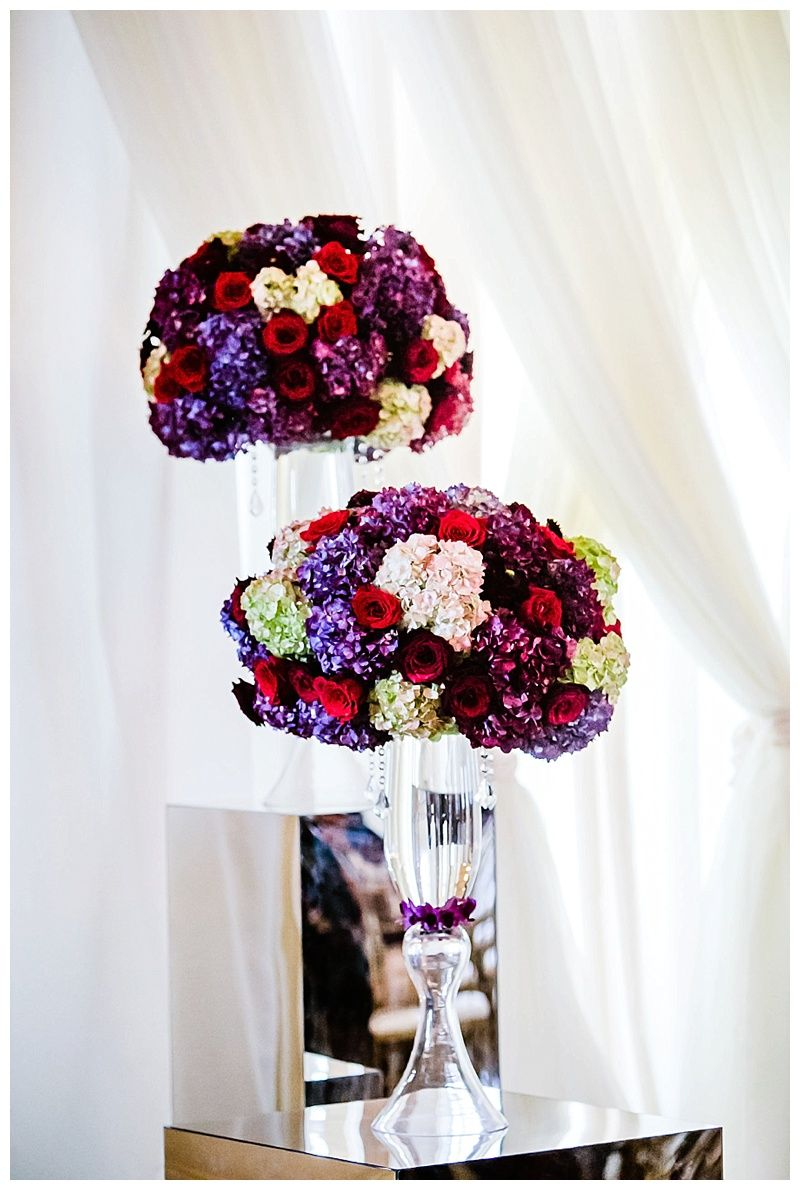 Ceremony Decor | Fall wedding | Purple and Red Wedding | Biltmore ...