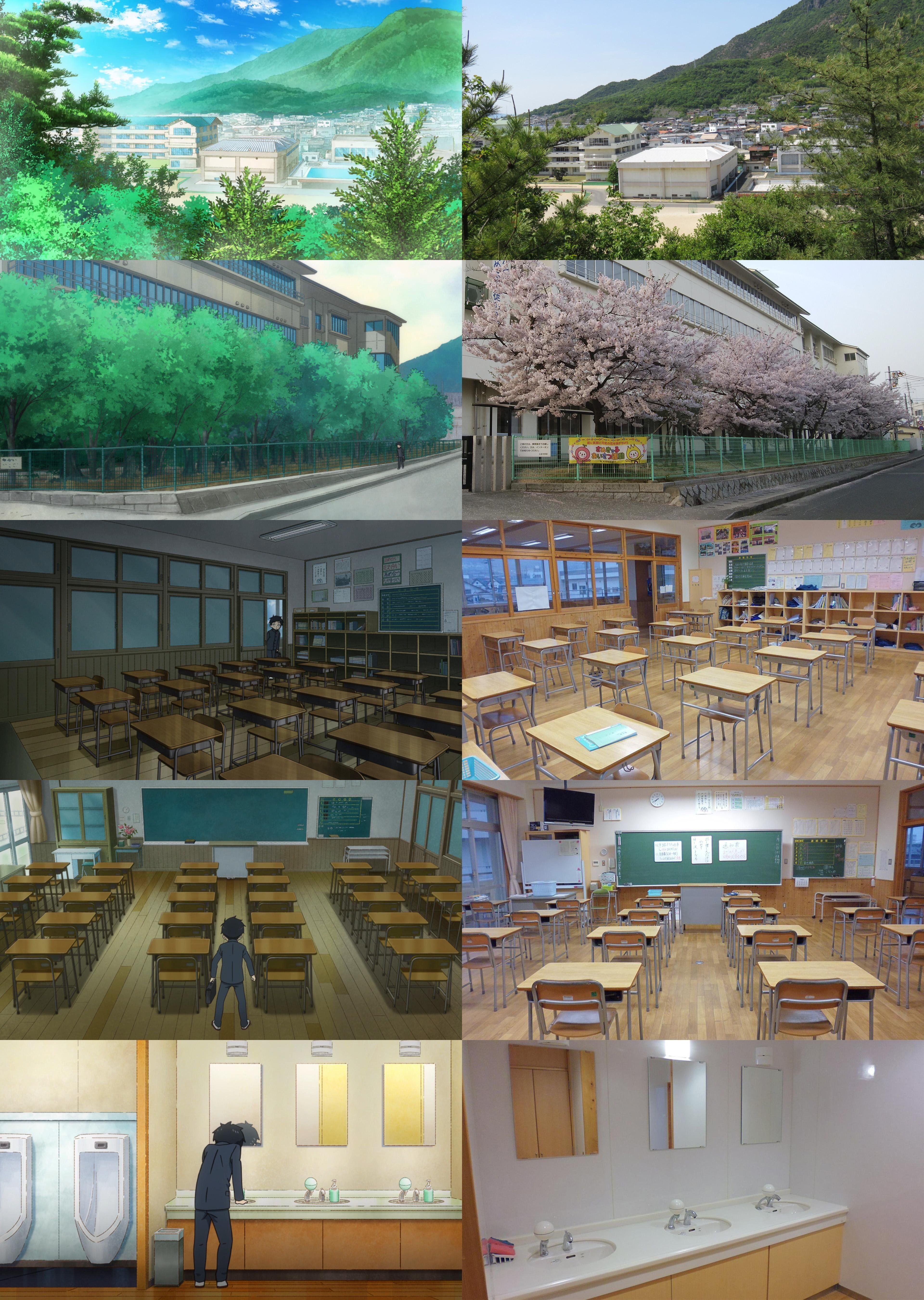 Takagi San Real Life Locations Episode 1 Takagi San からかい
