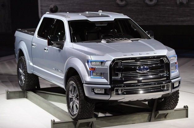 Ford Atlas Concept Carries The Weight Of The F 150 On Its Shoulders W Video Ford Trucks Ford F150 Trucks