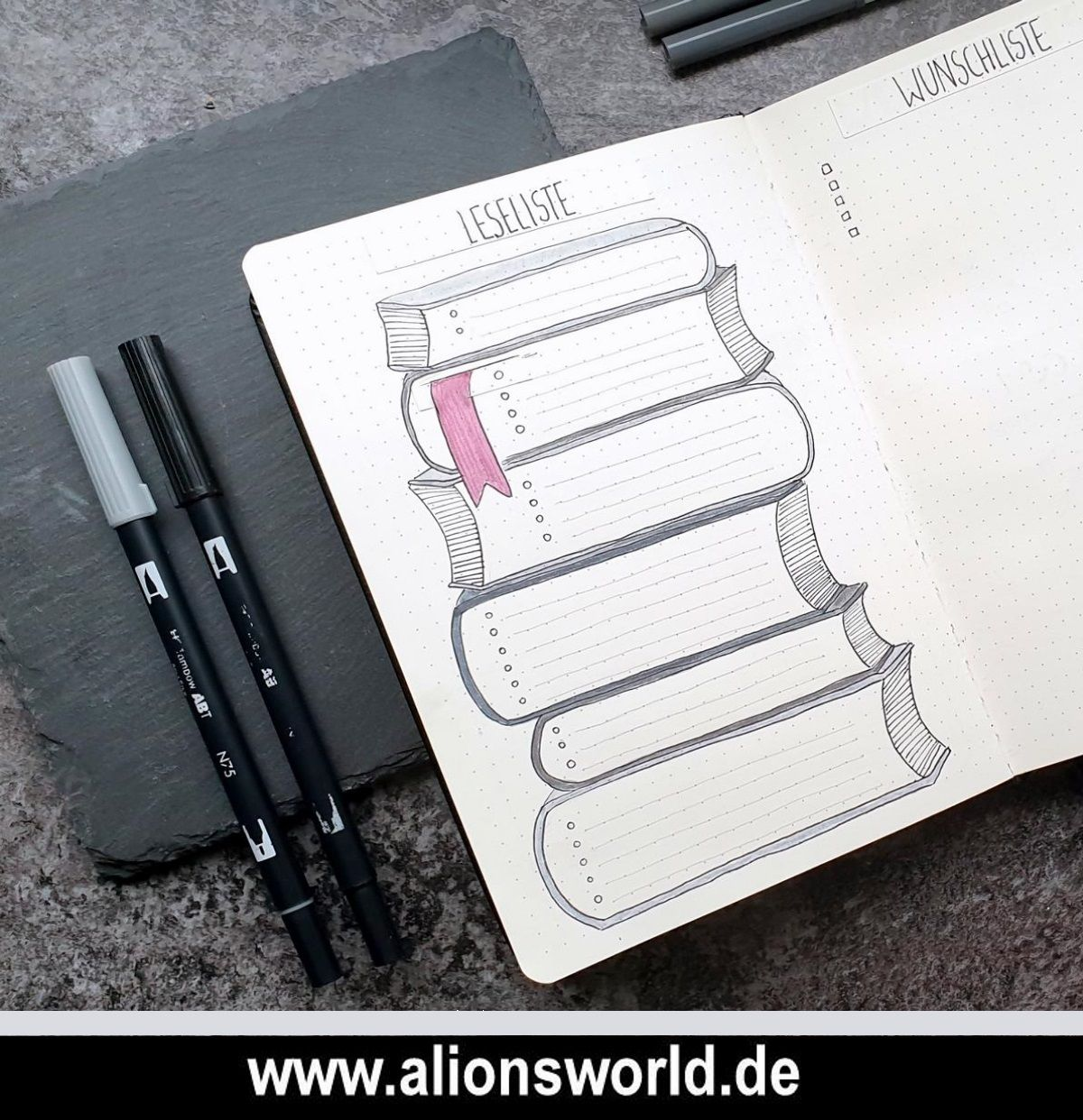Bullet Journal 2019 - Leseliste