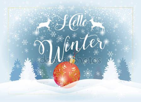 Download hello winter calligraphy text christmas new year holiday download hello winter calligraphy text christmas new year holiday greeting card stock illustration m4hsunfo