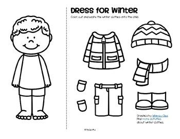 winter clothes dress boy and girl free winter theme winter kids preschool activities. Black Bedroom Furniture Sets. Home Design Ideas