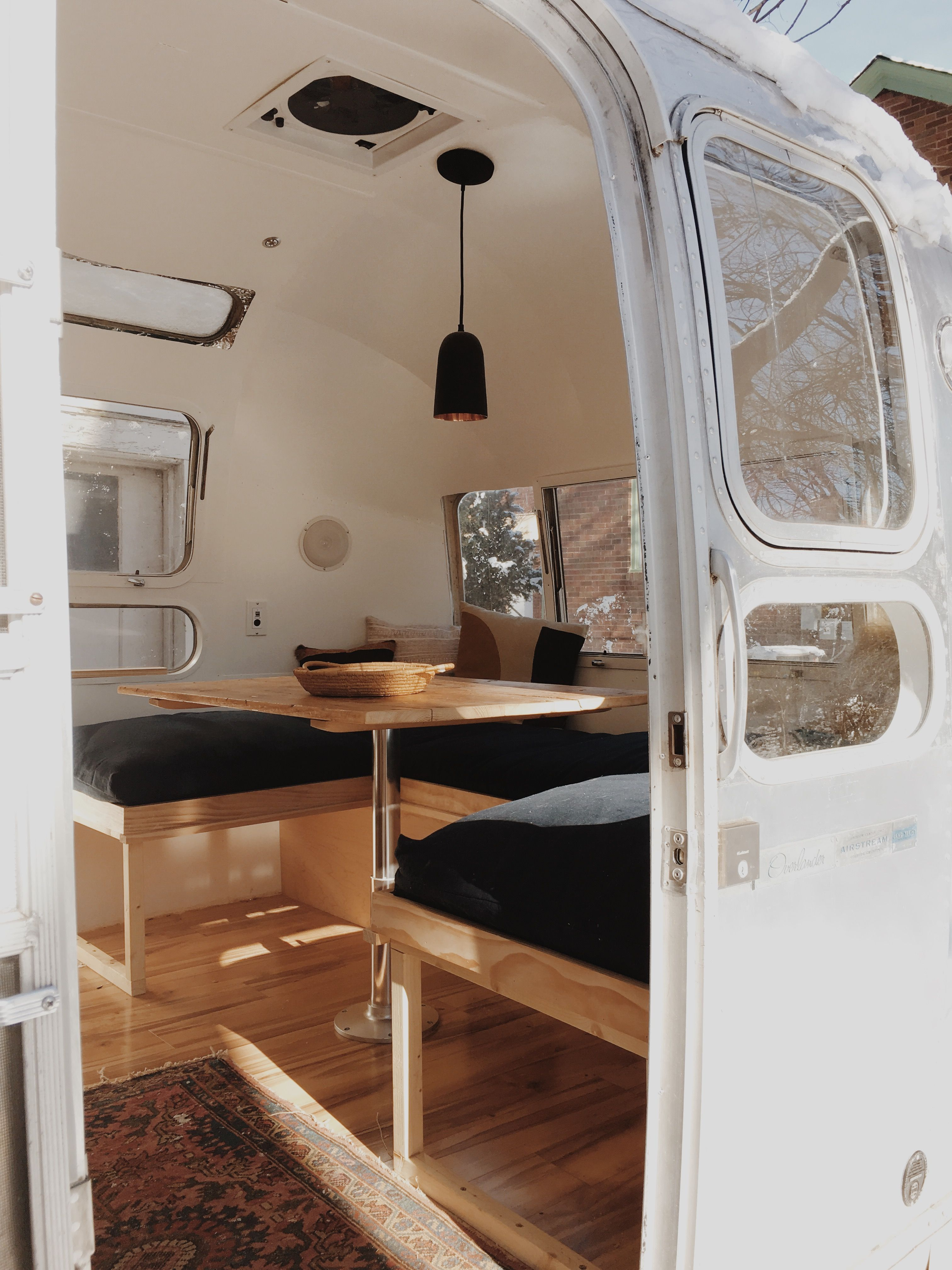 Birch pine 1977 complete airstream overhaul and for Airstream decor