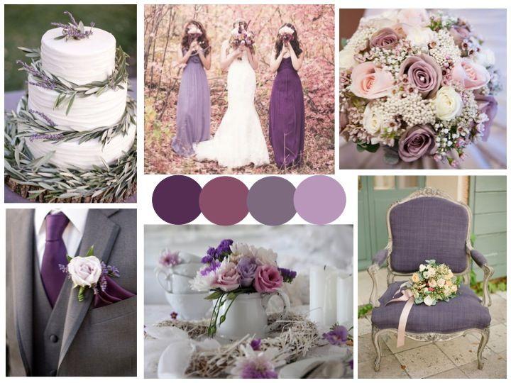 Plum Purple Lavender And Gray Wedding Scheme Lilac Wedding
