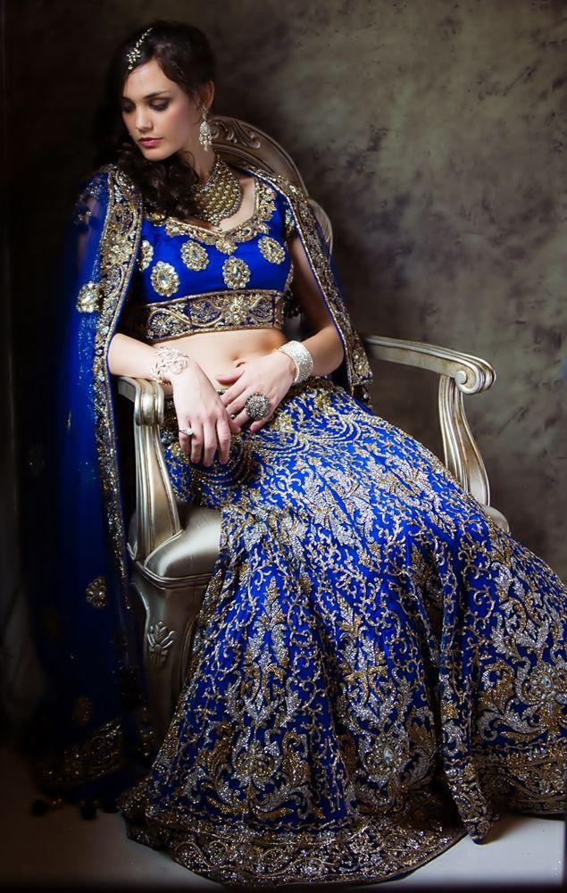 Royal Blue Lehenga #lehenga #choli #indian