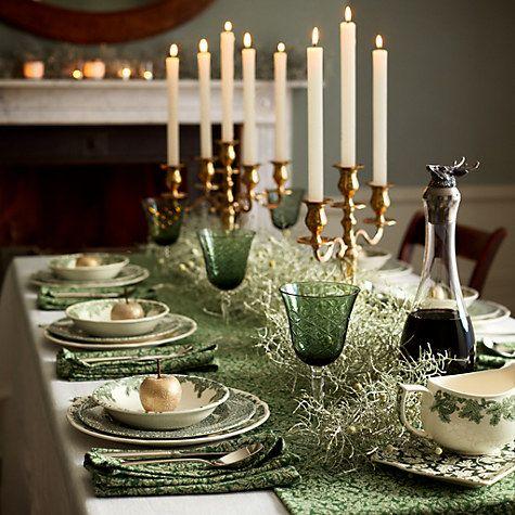 Buy Spode Ruskin House Tableware Online At Johnlewis Com Christmas Tableware Christmas Table Settings Christmas Table