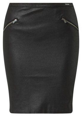 ZILIA - Jupe en cuir - noir