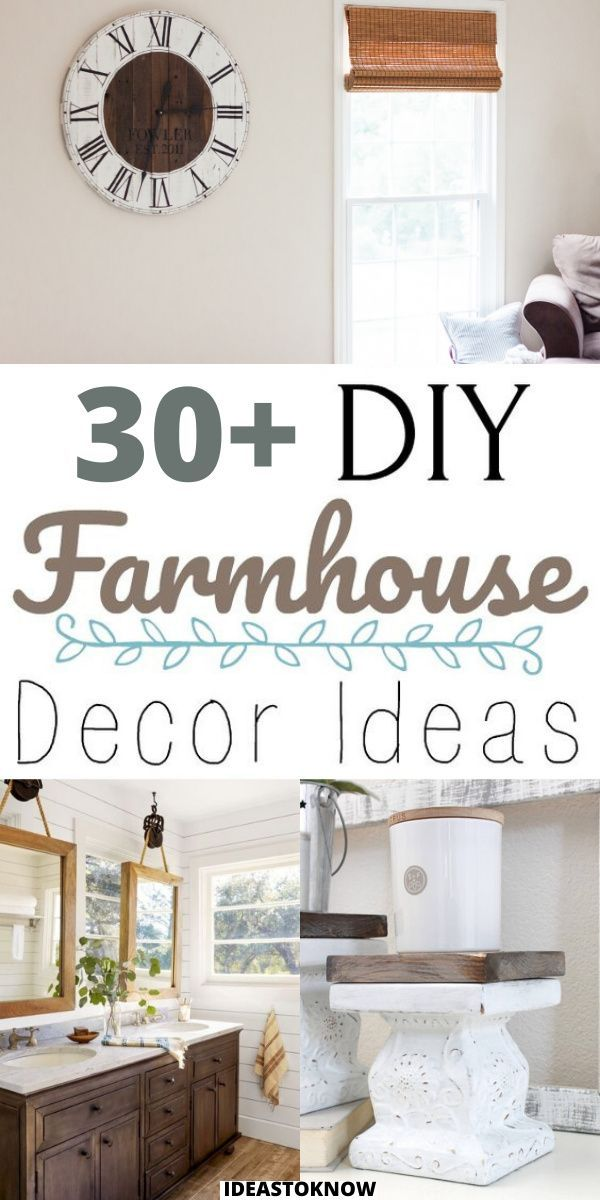 Photo of 30+ DIY Farmhouse Decor Ideas