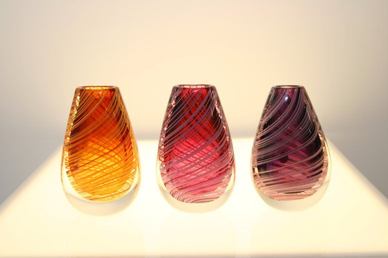 Glass vases by Lynden Over (Lava Glass, Taupo, NZ)