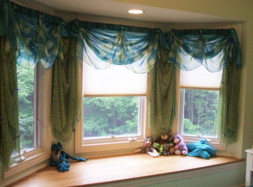Bay Window Window Treatments There Are 3 Windows So The Same