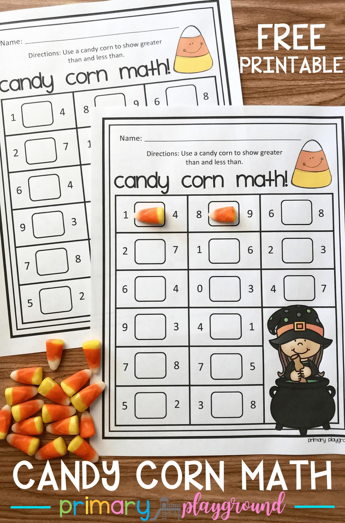 Free Printable Candy Corn Math