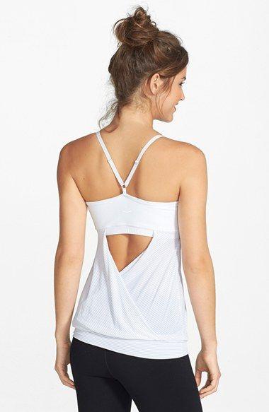 Beyond Yoga | Drape Back Shelf Bra Racerback Camisole | Stretch ...