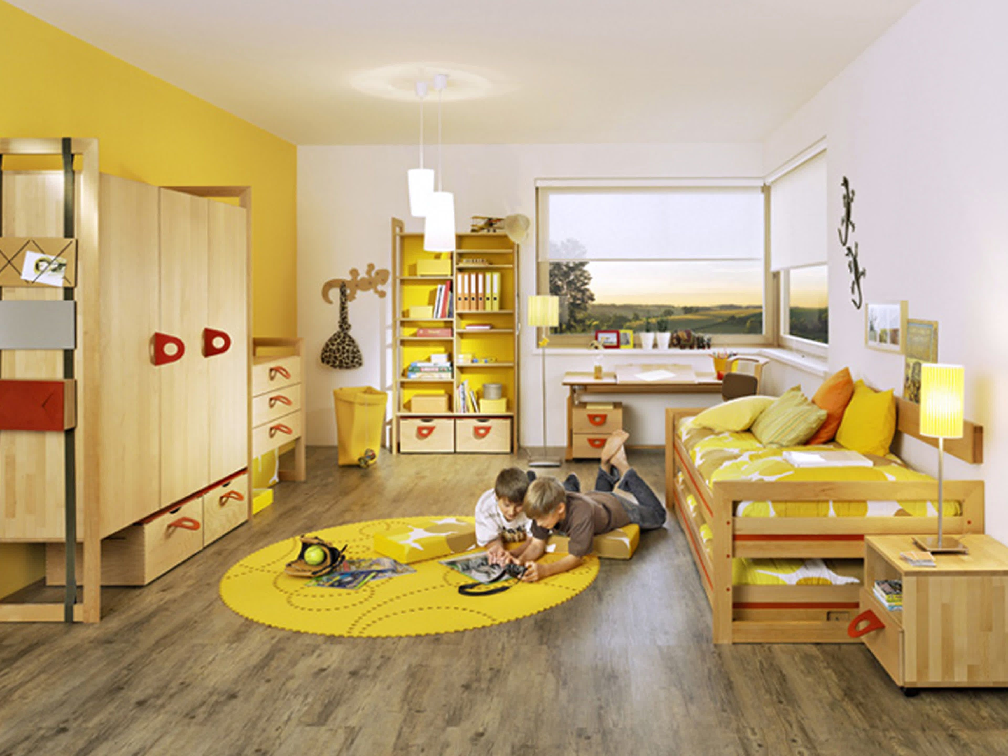 licious-kids-bedroom-room-ideas-design-with-yellow-and-white-wall ...