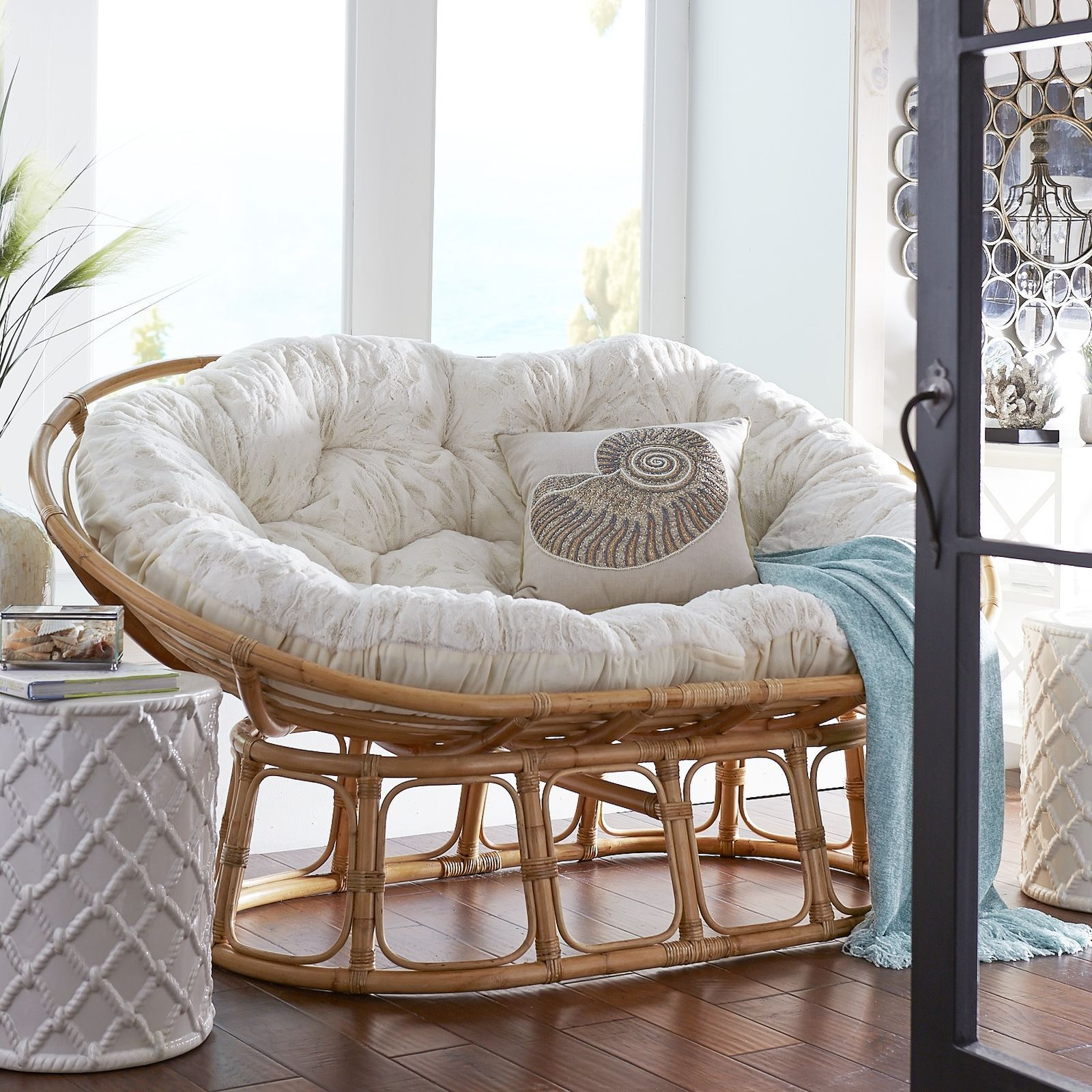 Elegant All The Appeal And Comfort Of Our Iconic Papasan Chairu2014and Then Some. With  Room For Two, Itu0027s Twice As Nice With A Double Bowl Frame.