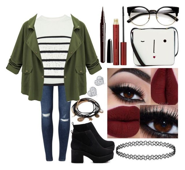 """""""Untitled #1425"""" by jem0kingston ❤ liked on Polyvore featuring Miss Selfridge, Cardigan, Lulu Guinness, ASOS, Forever 21, Kevyn Aucoin and Marc Jacobs"""