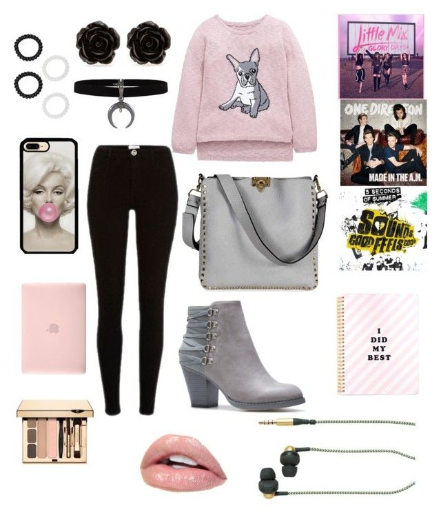 """""""School Day"""" by briannaduffin on Polyvore featuring Valentino, Erica Lyons, Incase, M&Co and Kreafunk"""