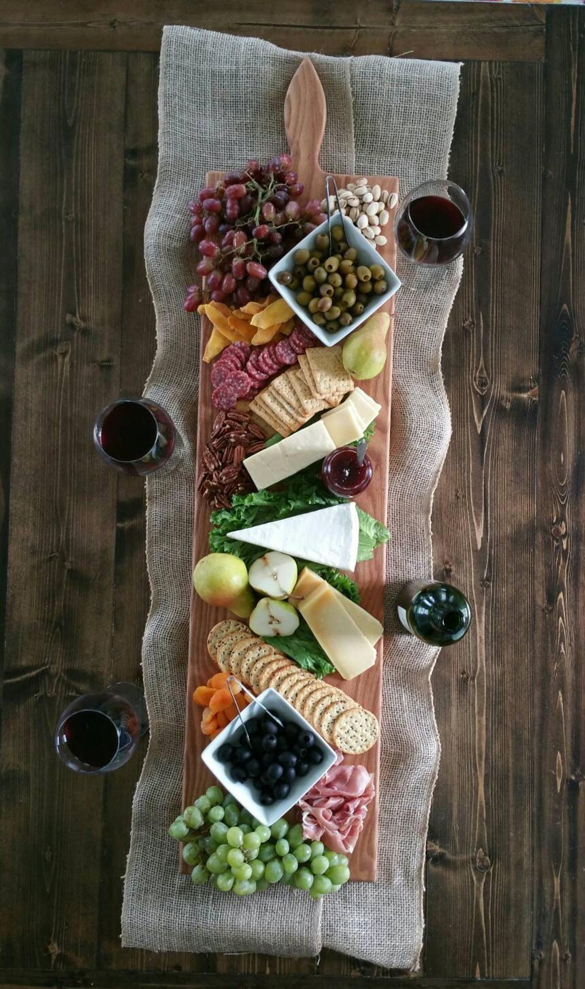 42 pouces - tres grand service en bois plateau de fromage planche-en chêne-par érable rouge Run-coupe Conseil - cadeau pour les gourmands #caixasdemadeira