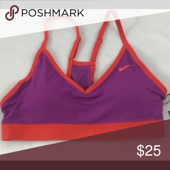 02760af94736f Nike Pro Indy Sports Bra Nike Pro Indy Sports Bra. Only worn 3 times!  Perfect condition! Purple and orange color scheme  this bra stands out!