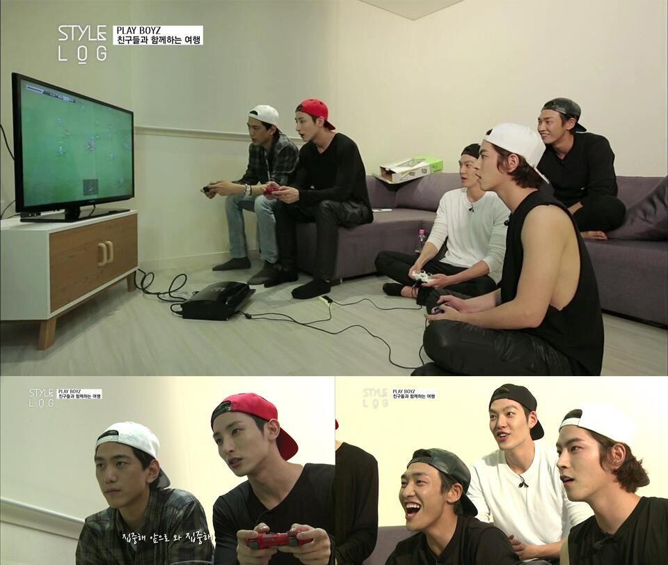 So much handsome in one picture... Bang Sung Joon, Lee Soo Hyuk, Kim Woo Bin, Kim Young Kwang, and Hong Jong Hyun