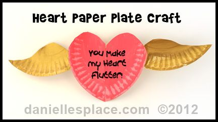 heart paper plate craft paper plate with wings craft can make from www 4654