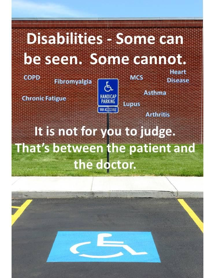 Image result for judging special needs for using handicapped spot