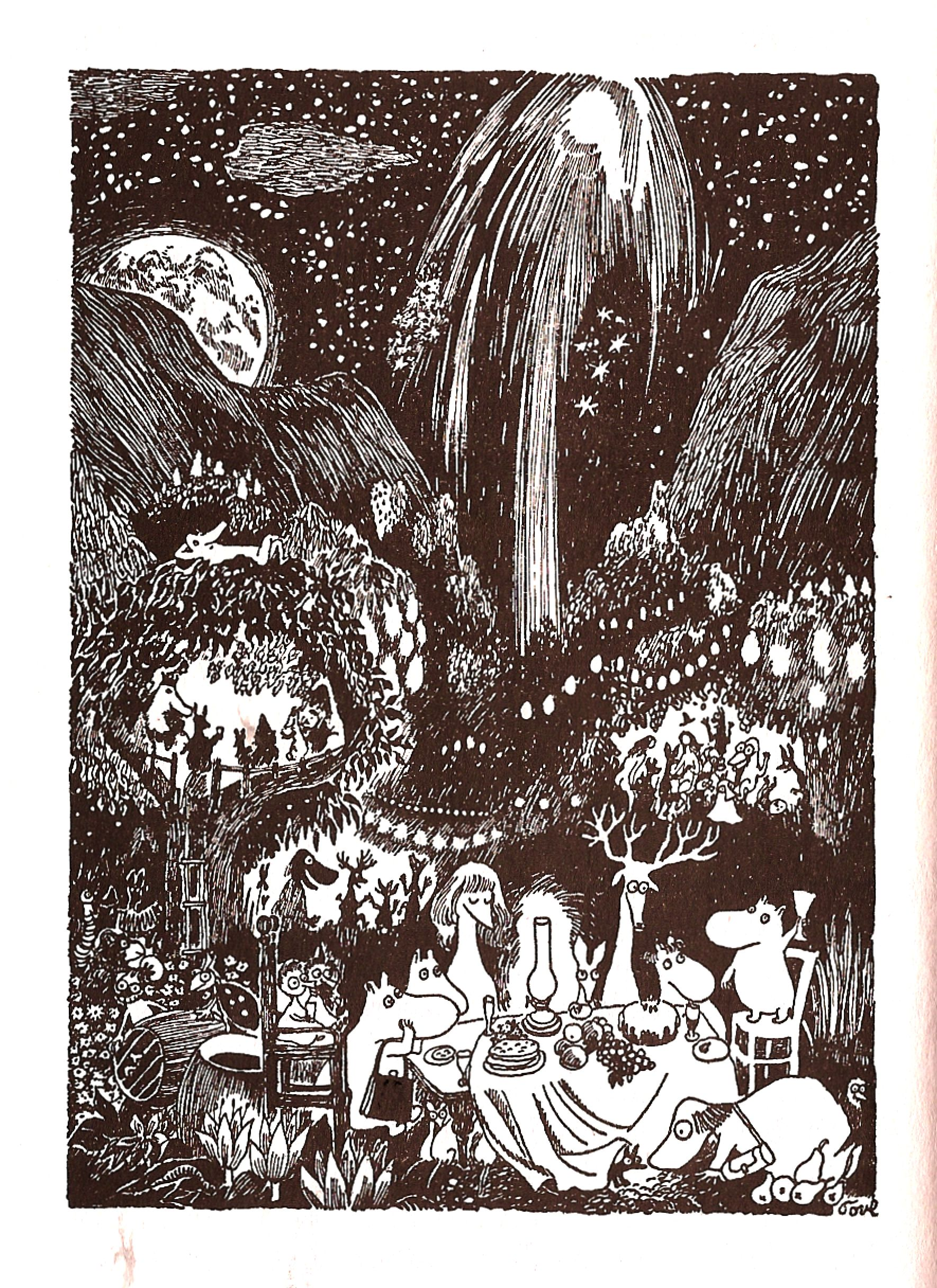 The Party In Moominvalley Finn Family Moomintroll By Tove Jansson 1948 Tove Jansson Art Inspiration Illustration Art