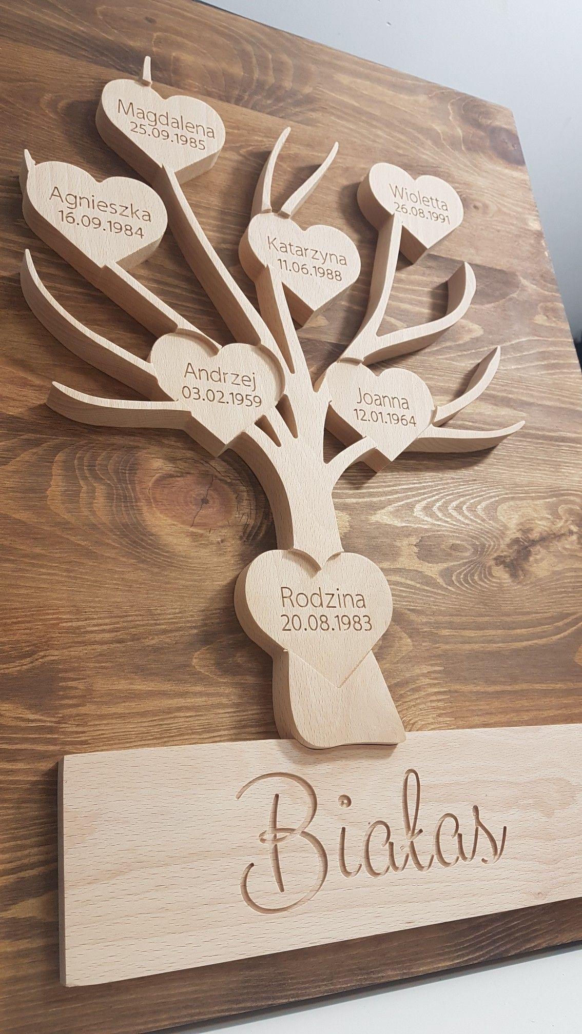 Dekoracyjne Drzewo Genealogiczne Wykonane W Calosci Z Litego