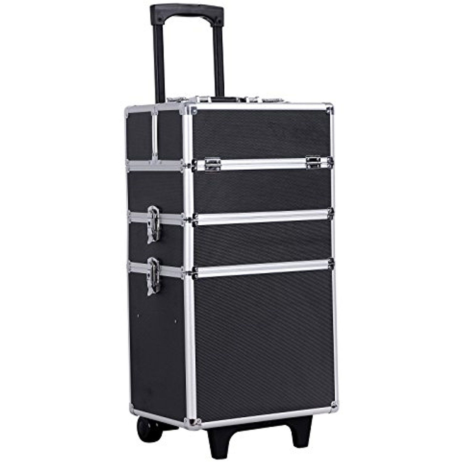 SONGMICS 4in1 Rolling Makeup Train Case with wheels