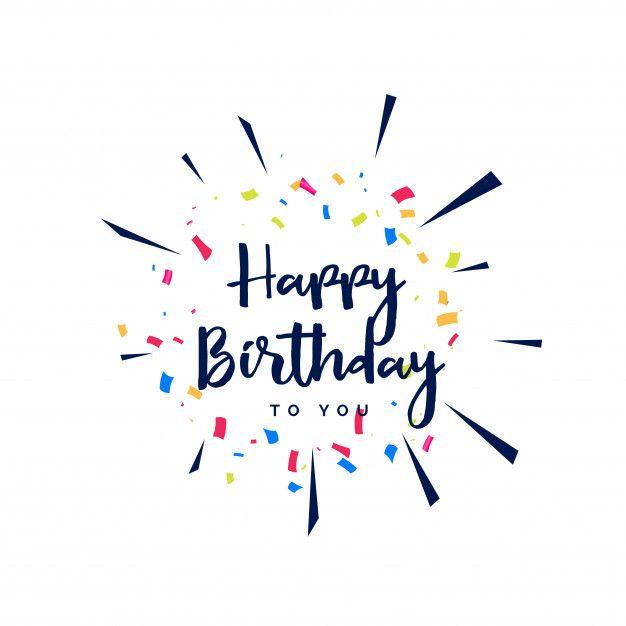 Feliz cumpleaños letras con confeti Vector Gratis Diseño