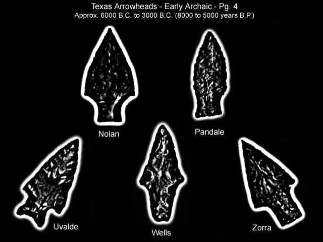 Texas Early Archaic Indian Artifacts