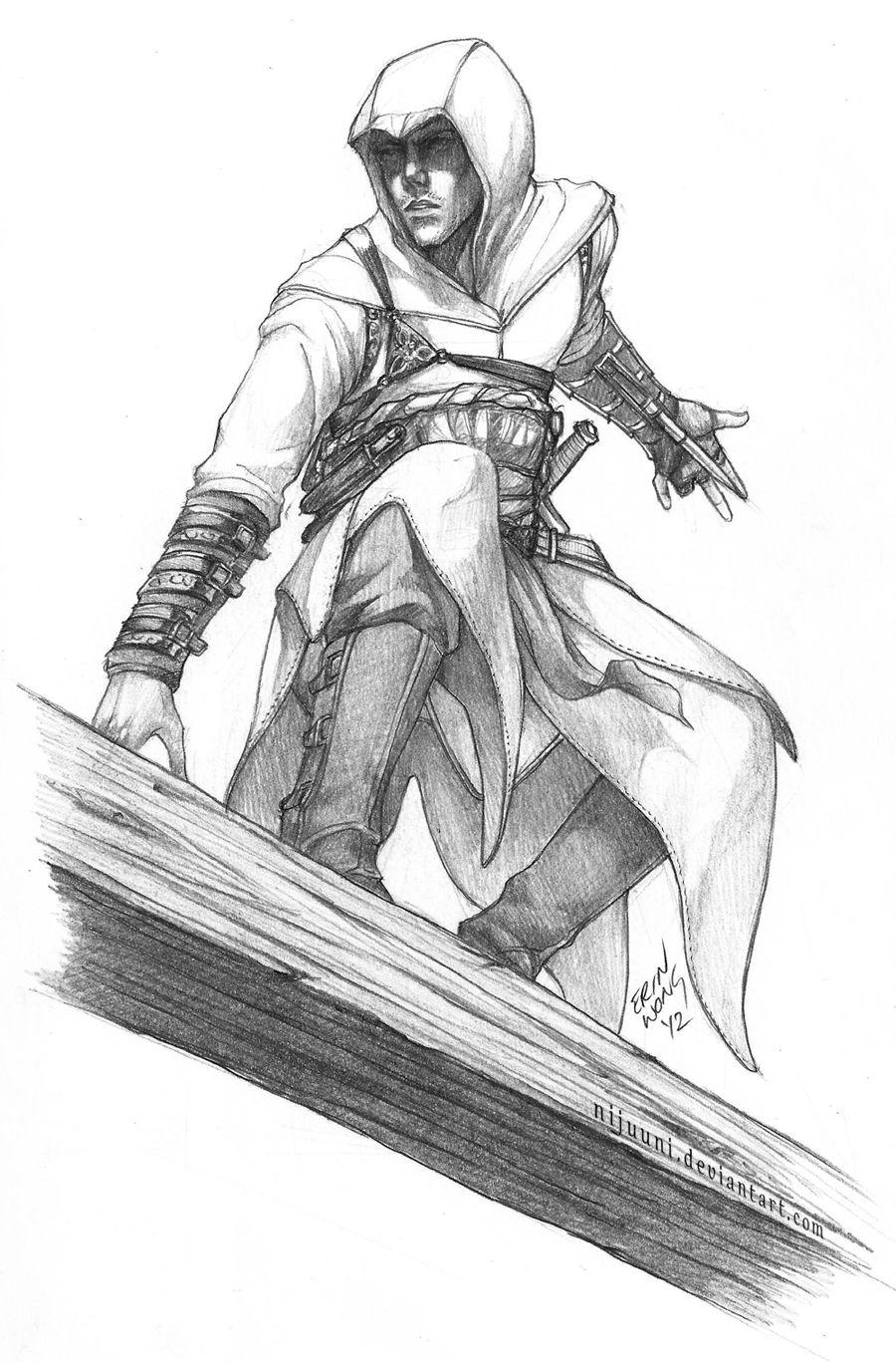 Ac Altair Sketch By Nijuuni Deviantart Com Ac Disegni A Matita