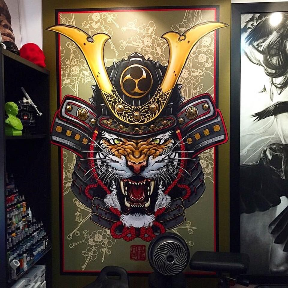Japanese Tattoo Wallpaper: Japanese Samurai Tiger