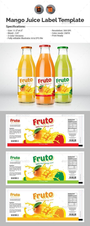 Juice Label Template Desain kemasan, Minuman, Kemasan