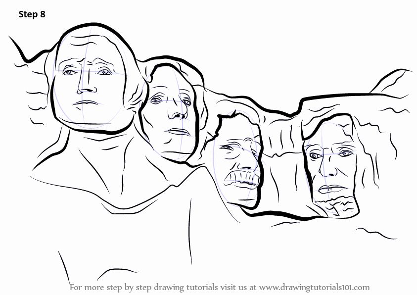 Mount Rushmore Coloring Page Unique Learn How To Draw Mount
