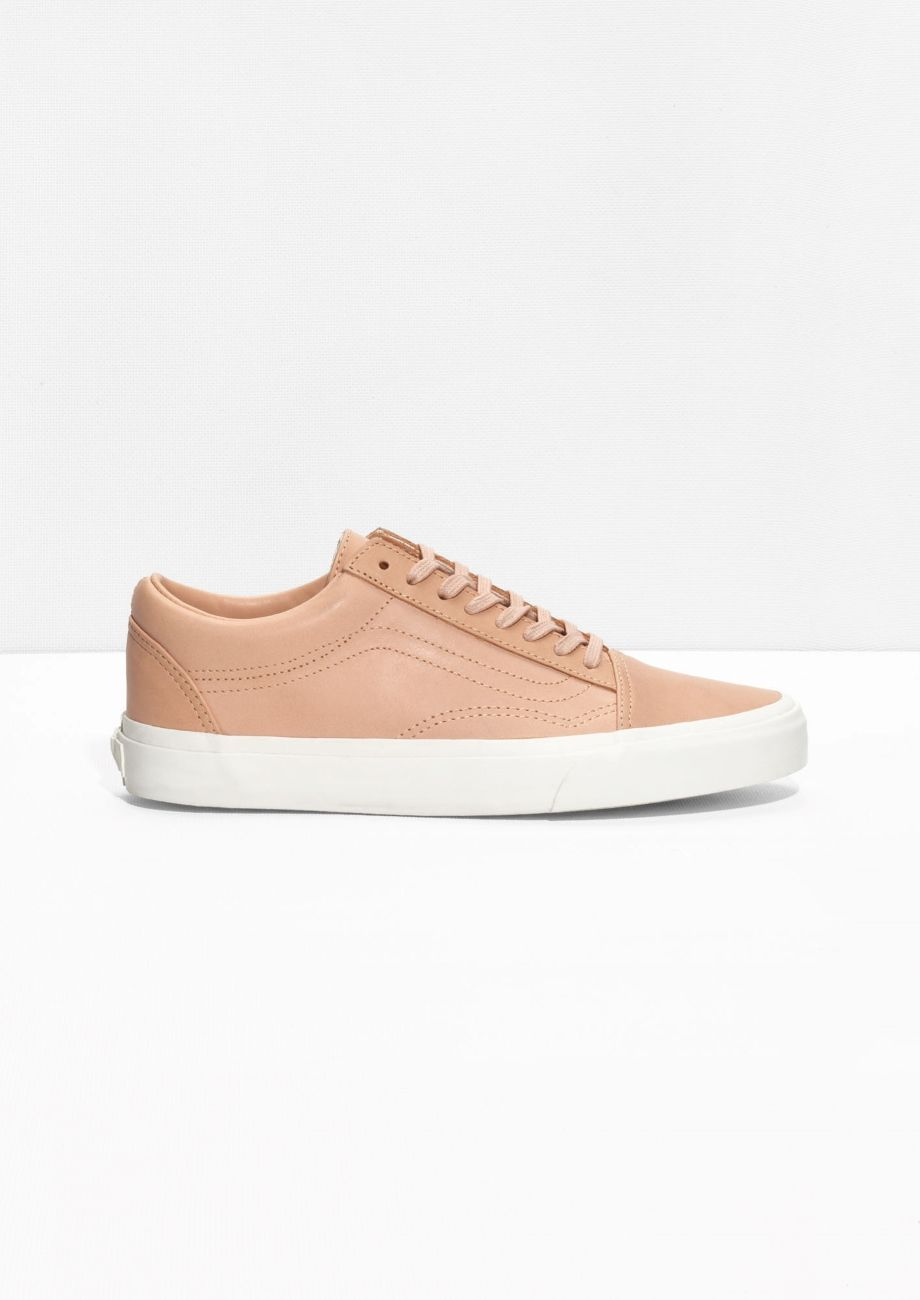 vans pink leather old skool