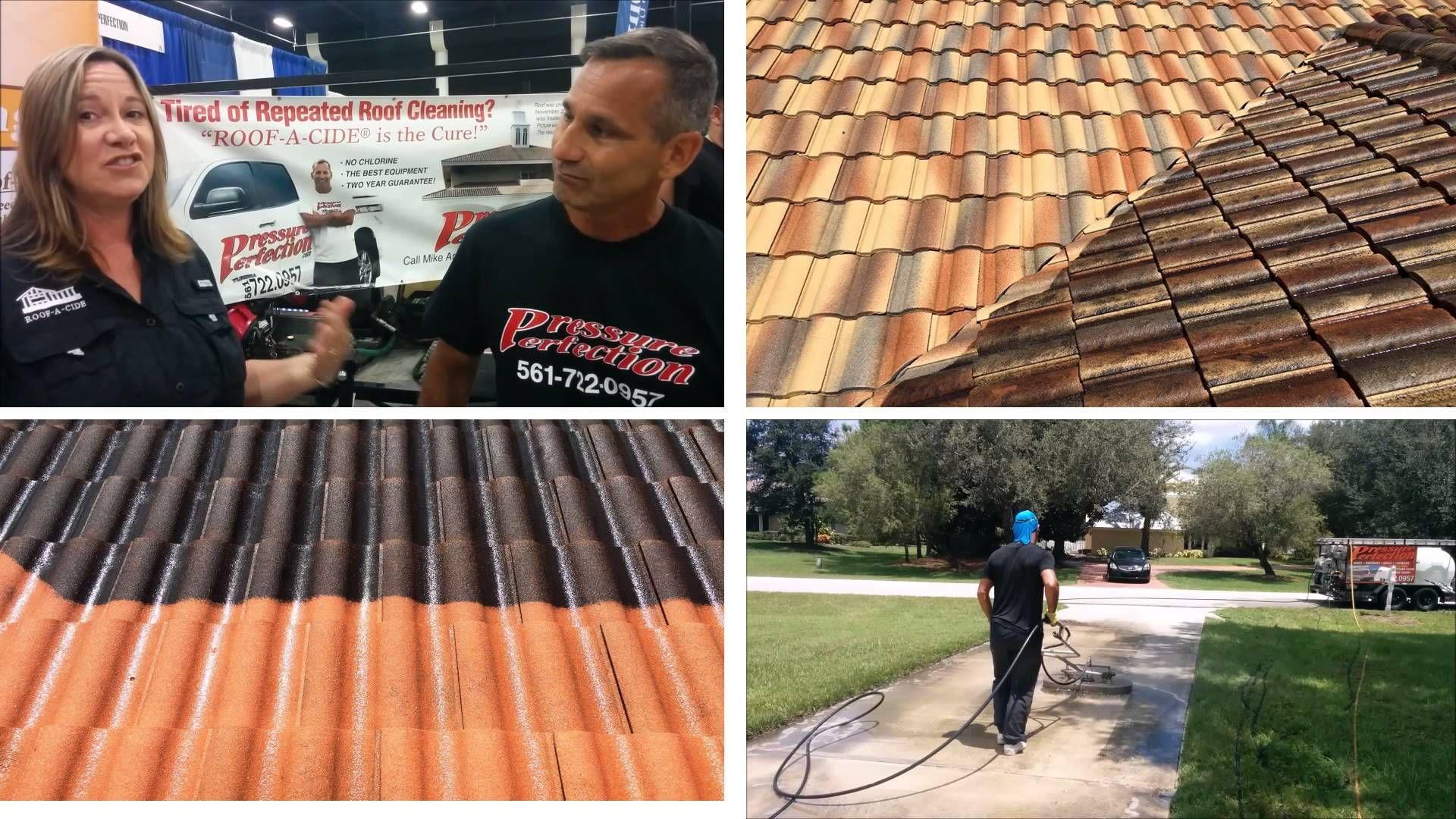 Pressure Perfection An Authorized Roof A Cide Applicator Serving Palm Beach Broward Counties Recently Participated In Trade Show Roof Cleaning