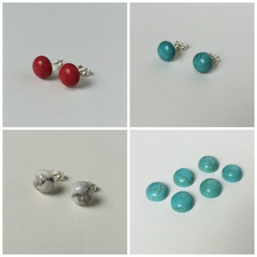 Multipack Studs - Multipack Earrings - Multipack Turquoise Red...