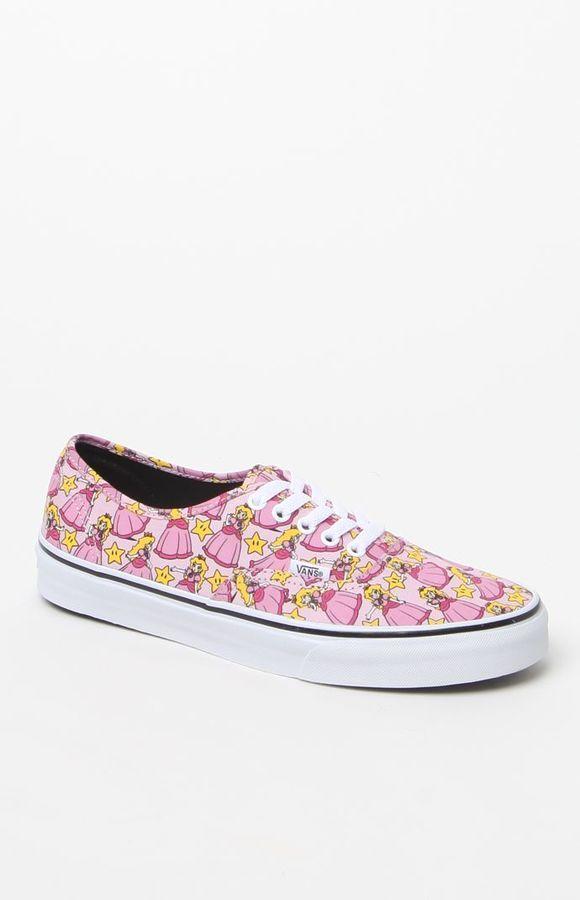 6d7bb860c4 Vans x Nintendo Authentic Princess Peach Shoes