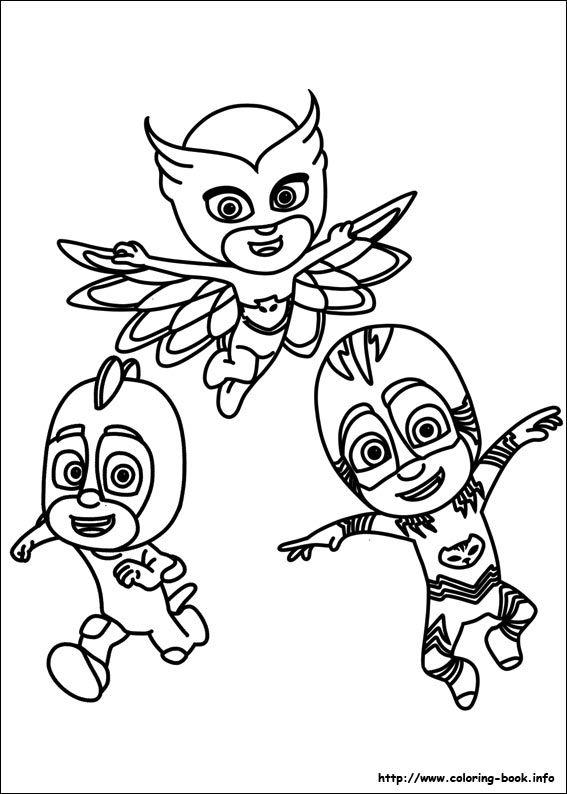 PJ Masks coloring picture 2 Color