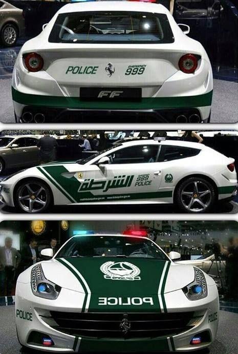 Dubai has an Aventador and Ferrari FF police car | sport