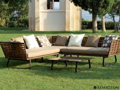 Salon de jardin Horizon en aluminium et résine, comprenant 2 ...