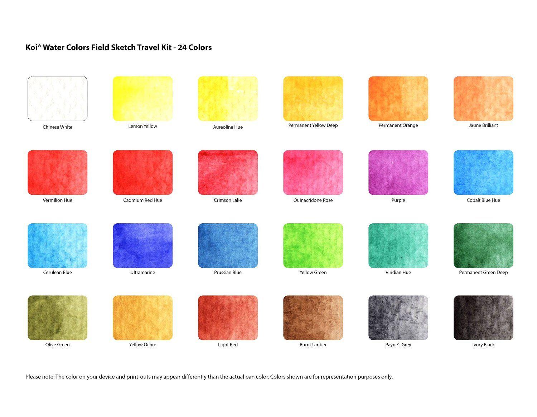 Sakura Koi-Colour Brush Set-Botanic Set of 6