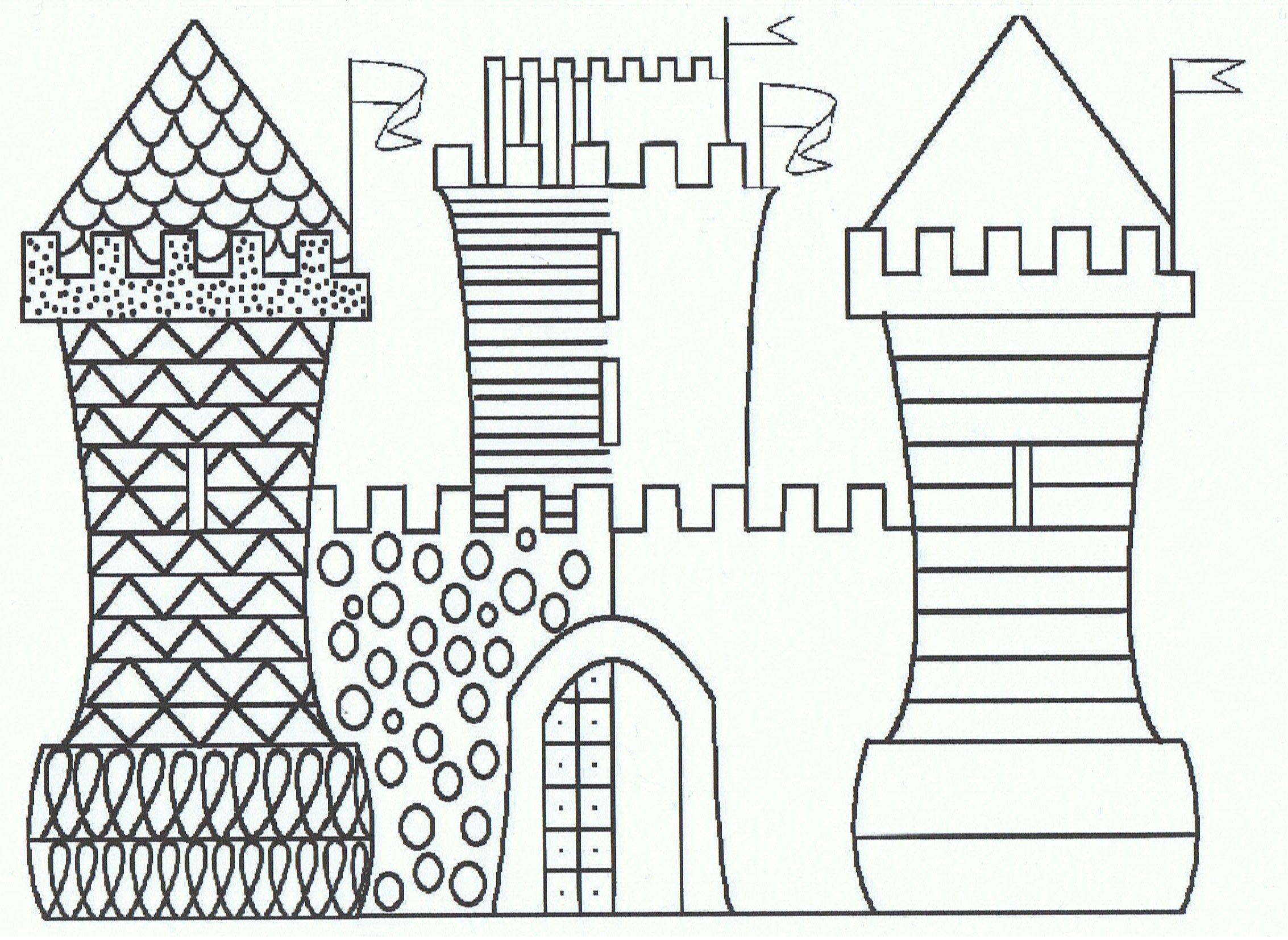 Schrijfmotoriek Maak het kasteel af met dezelfde patronen | Ridders ...