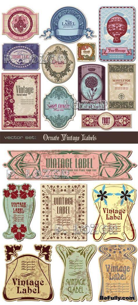 Vintage Printable Labels Art Nouveau Scrapbooking Ideen Schablonen Vorlagen Aufkleber