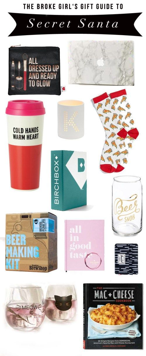 the broke girl's guide to secret santa - though these gift ideas applies to anyone in  your life (but are tailored for your office mates). Happy gifting!