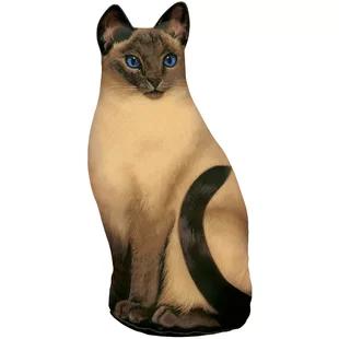 Winston Porter Brungardt Cat Fabric Weighted Floor Stop Cat Doorstop Cat Fabric Cat Door